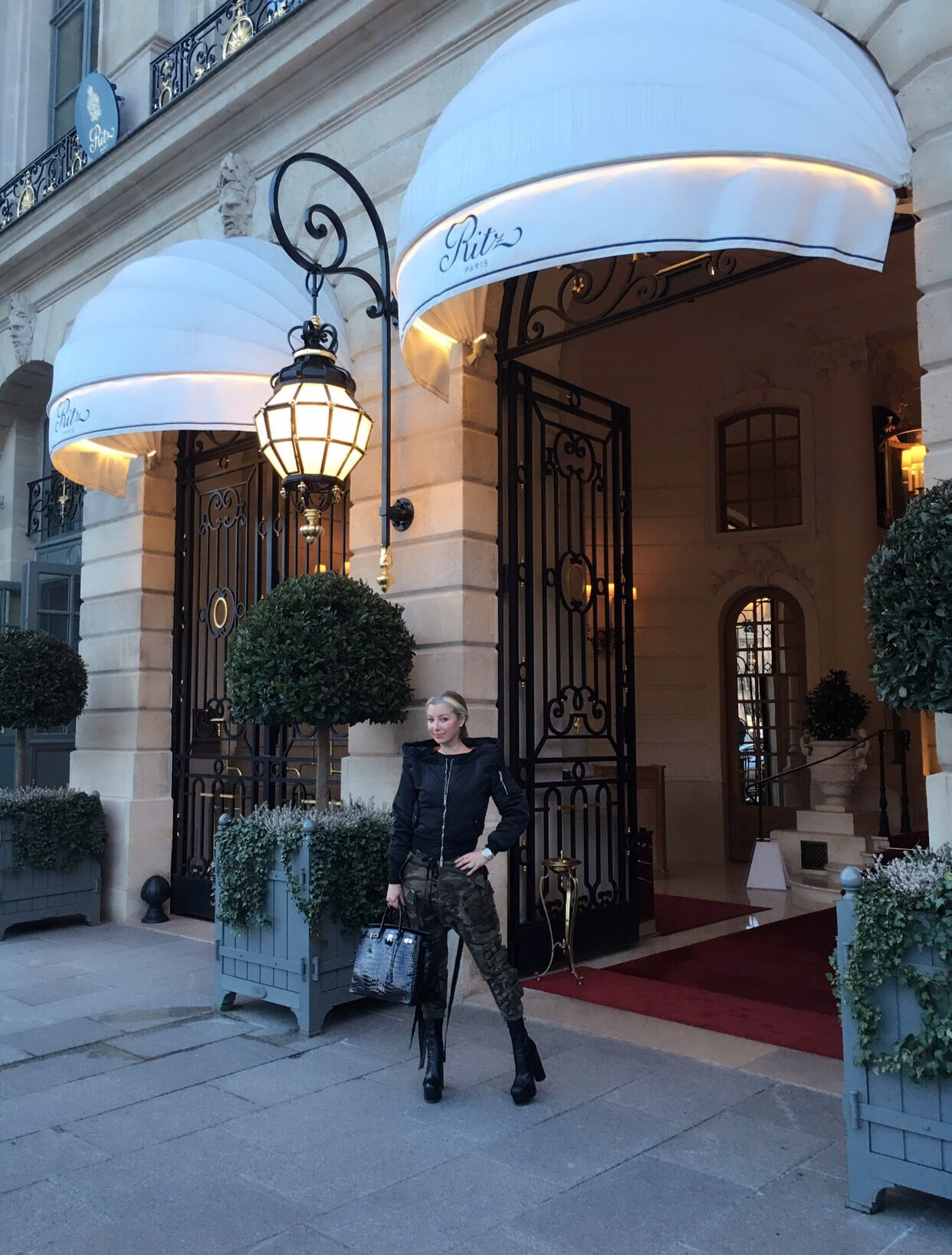 In front of the Ritz