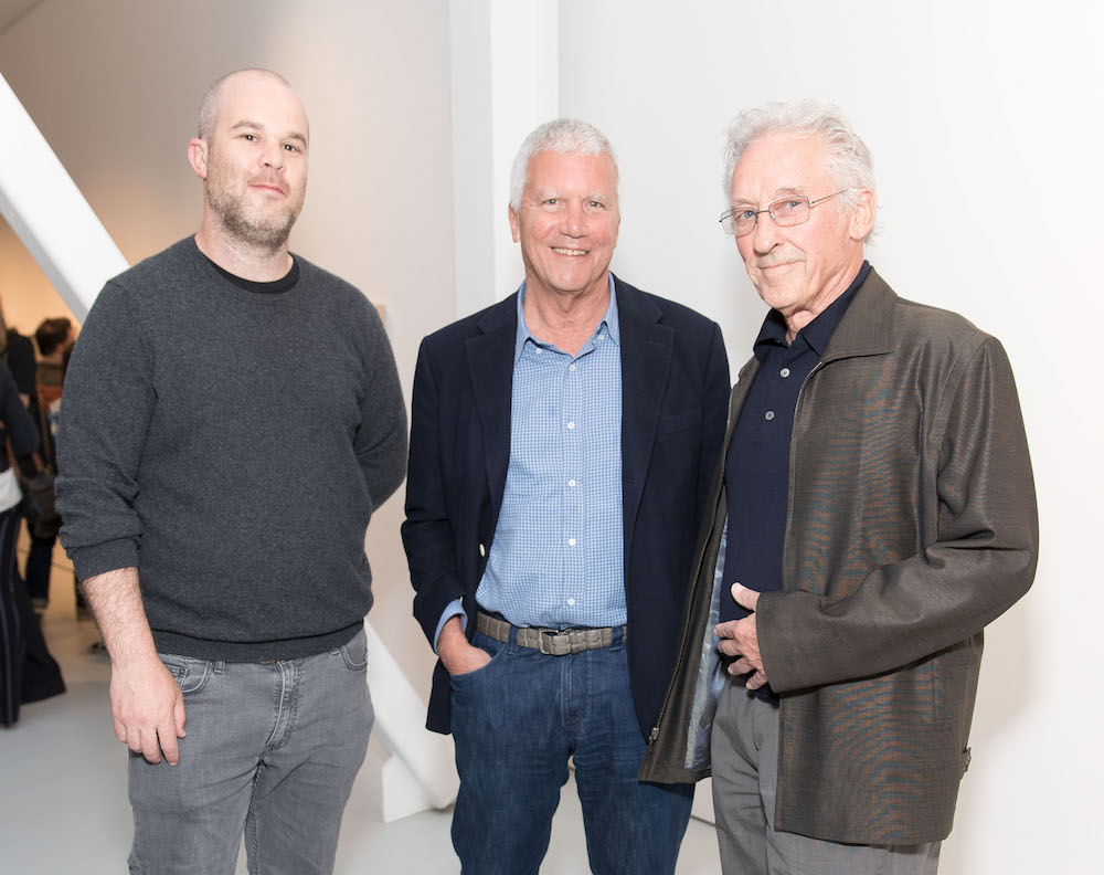 Jonas Wood, Larry Gagosian and Ed Ruscha