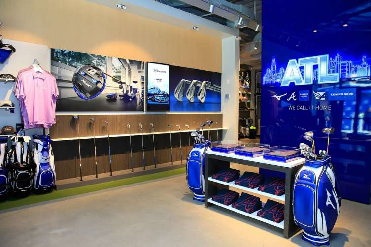 ATLANTA, GA - The Mizuno Experience Center is now open in The Battery Atlanta, featuring Mizuno golf clubs, apparel and the patented Performance Fitting System to get you fit for the right set make-up for your game. (Photo by Daniel Shirey/Getty Images for Mizuno) (PRNewsfoto/Mizuno USA)