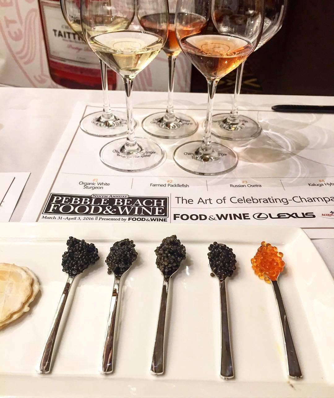 A caviar and wine seminar at the 2015 festival