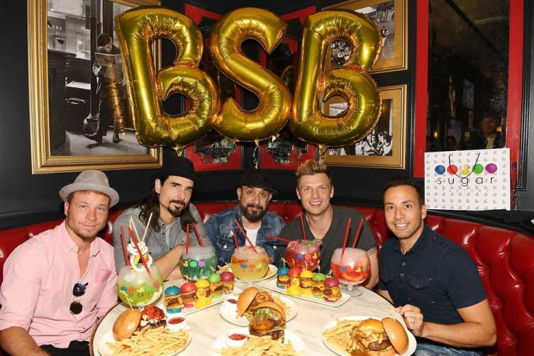Backstreet Boys having dinner at Sugar Factory Las Vegas