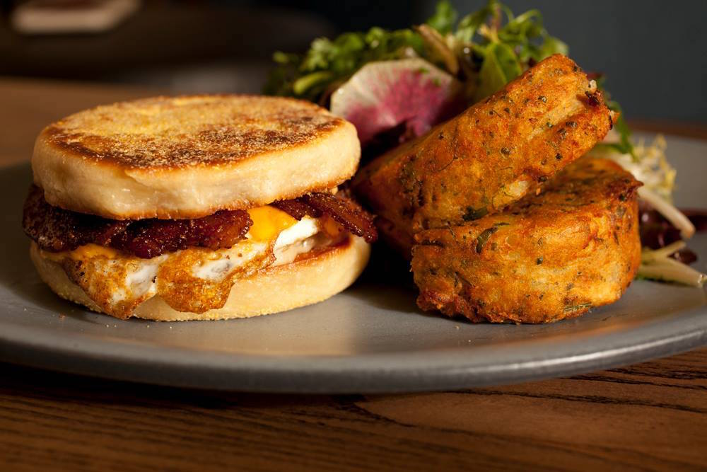 Finn Town's egg sandwich comes on a housemade English muffin