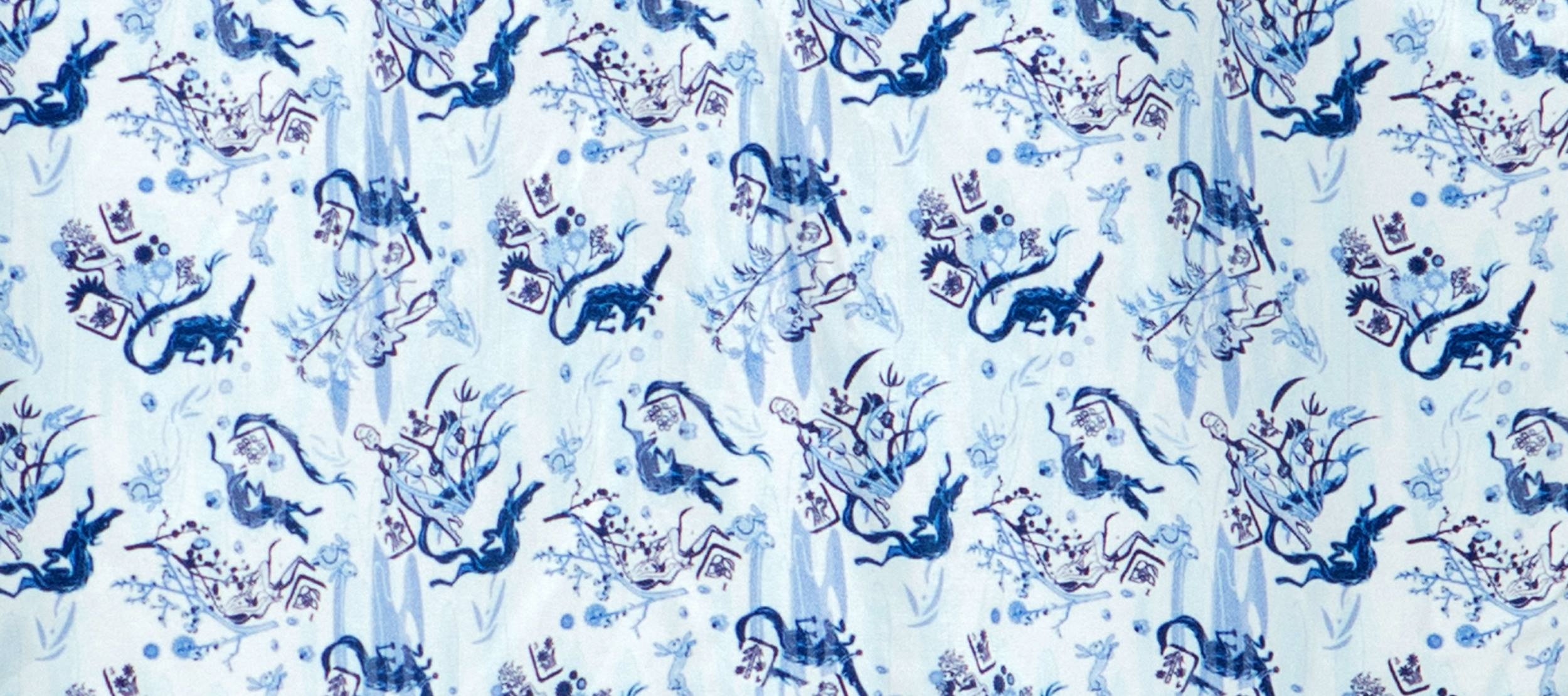 A closer look at the print designed specifically for Jake's recent collection