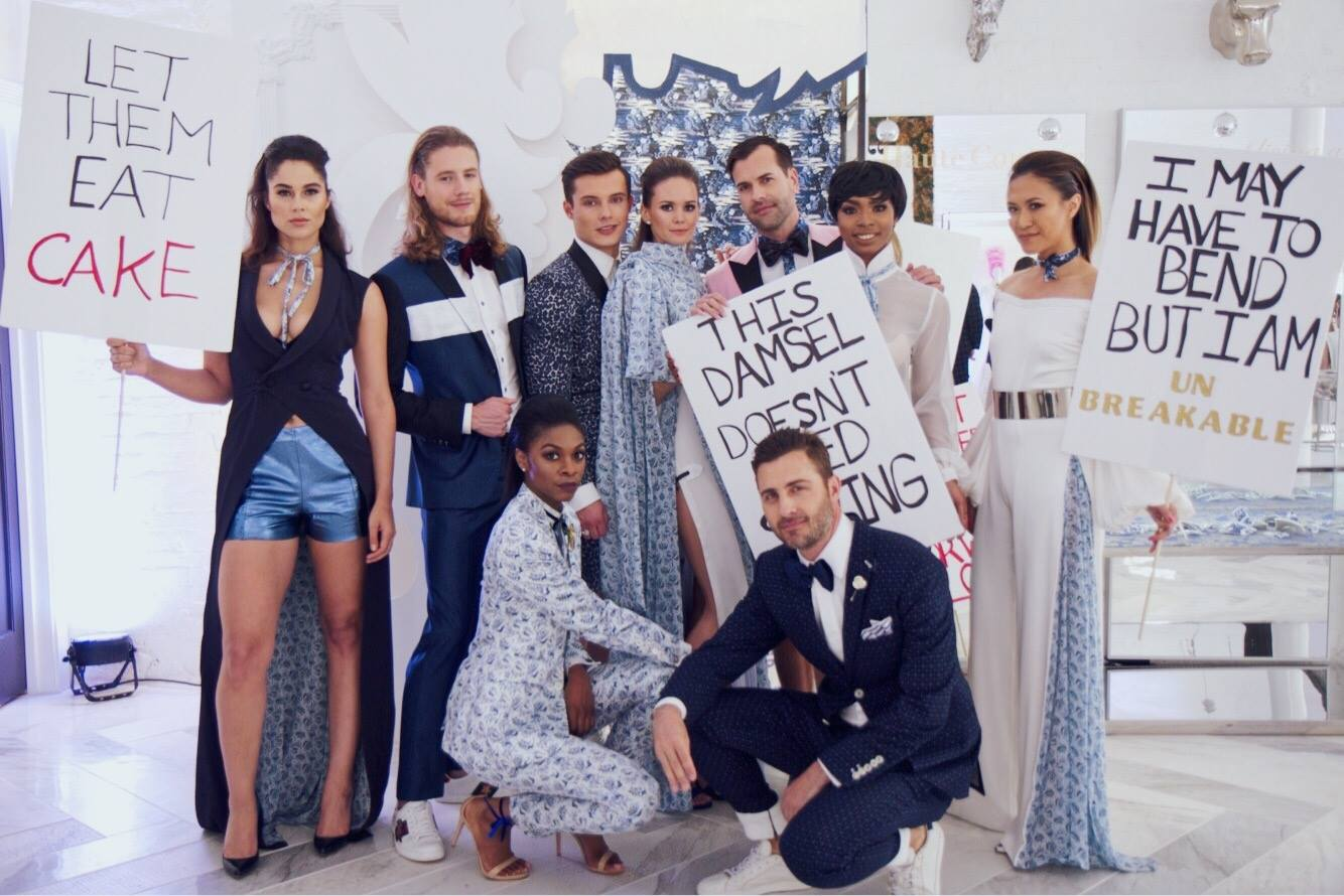 Jake's models wearing the new collection
