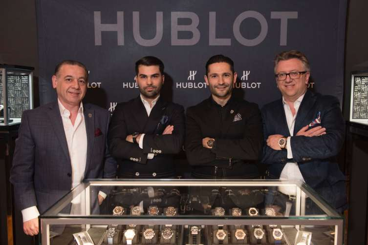 The teams from Hublot North America and Geneva Seal.