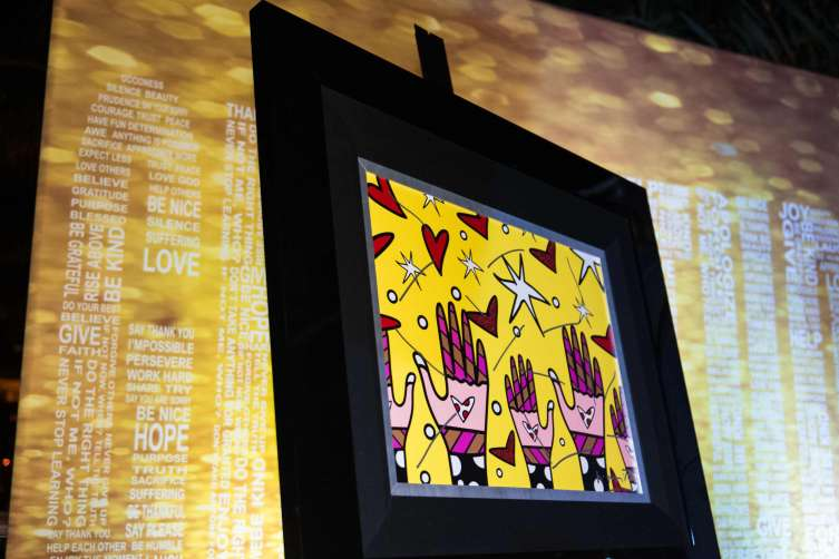 Romero Britto Art Piece