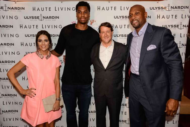 Ana Wolfington, Hassan Whiteside, Sean Wolfington and Alonzo Mourning
