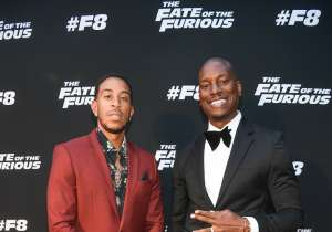 "ATLANTA, GA - APRIL 04:  Ludacris and Tyrese Gibson attend ""The Fate Of The Furious"" Atlanta red carpet screening at SCADshow on April 4, 2017 in Atlanta, Georgia.  (Photo by Paras Griffin/Getty Images for Universal)"
