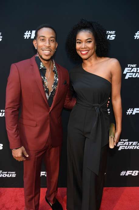 "ATLANTA, GA - APRIL 04: Ludacris and Gabrielle Union attend ""The Fate Of The Furious"" Atlanta red carpet screening at SCADshow on April 4, 2017 in Atlanta, Georgia. (Photo by Paras Griffin/Getty Images for Universal)"