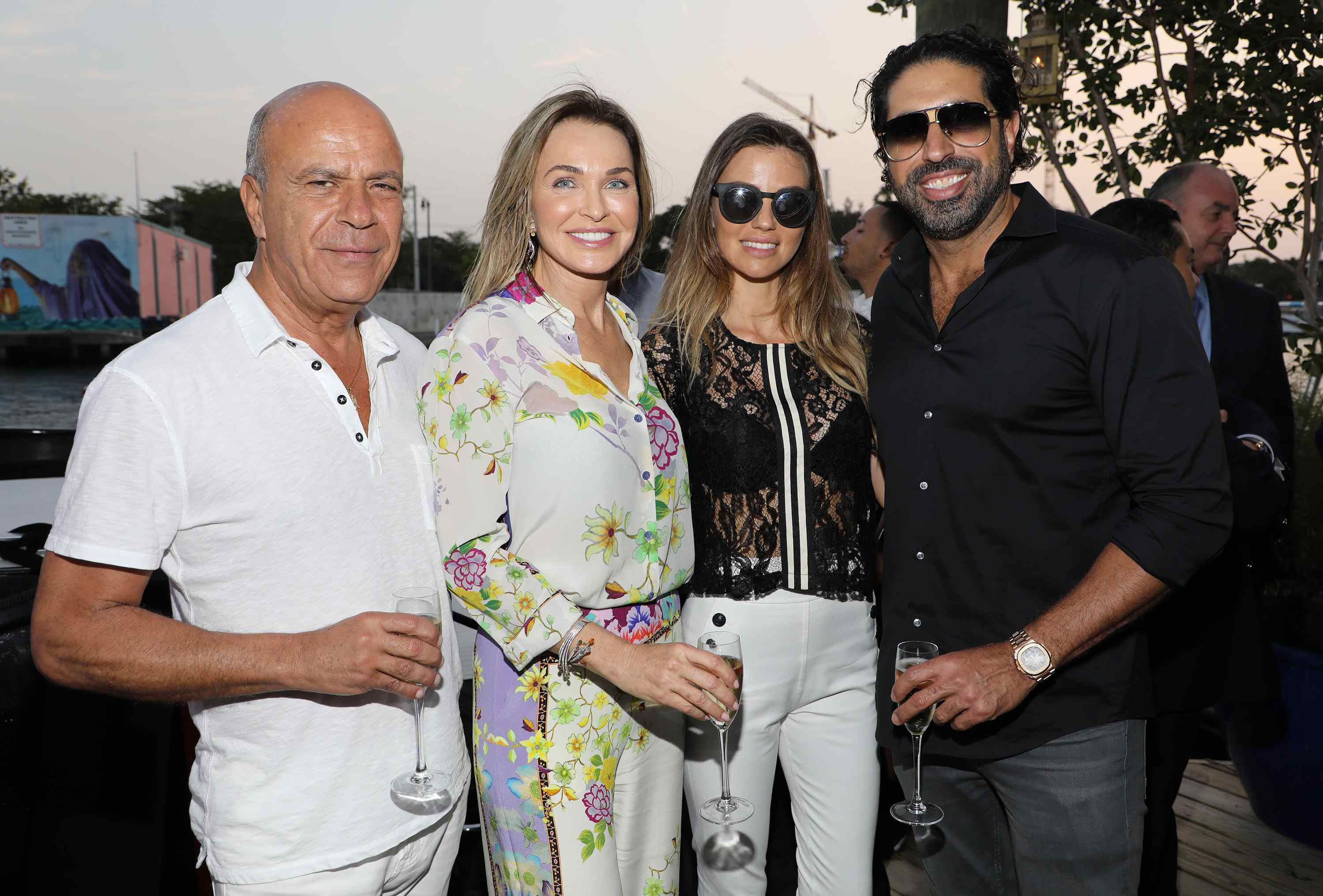 MIAMI, FL - APRIL 6: Benny Shahtai, Stacey Shabtai, Marianne Dieterich and Tommy Kato are seen at the Haute Living and Ulysse Nardin Collectors Dinner at Seaspice on April 6, 2017 in Miami, Florida. (Photo by Alexander Tamargo/Getty Images