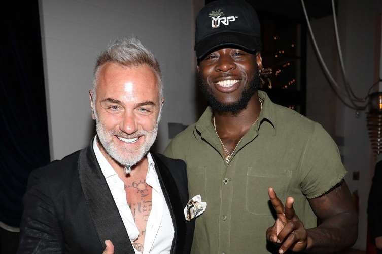 Gianluca Vacchi and Jay Ajayi