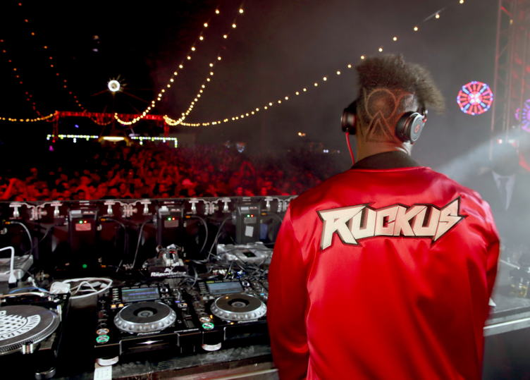 DJ Ruckus performs