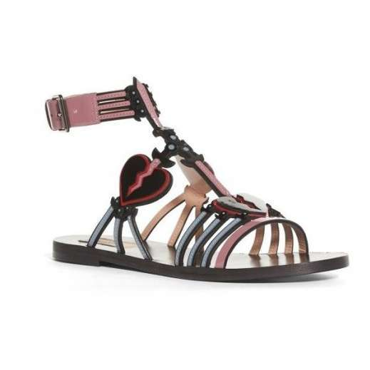 VALENTINO Loveblade Patent Leather Sandals