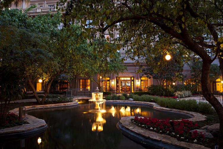 The courtyard at evening