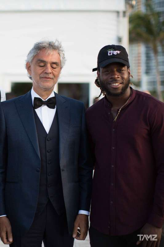 Andrea Bocelli and Jay Ajayi