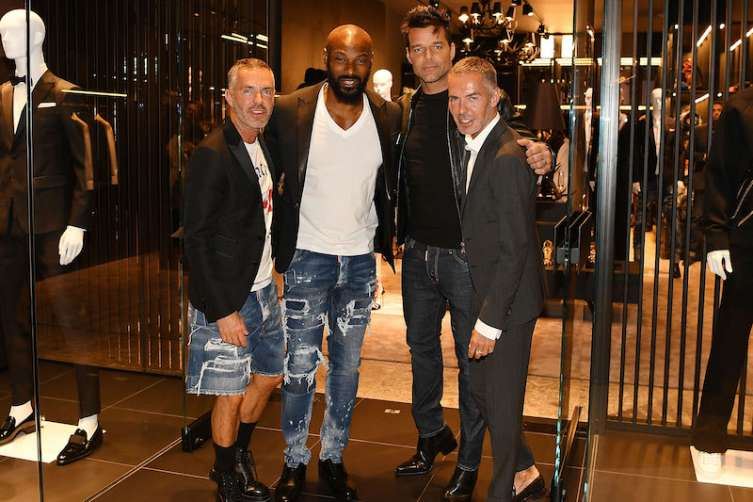 Dan Caten, Tyson Beckford, Ricky Martin and Dean Caten
