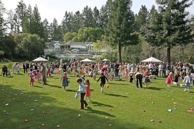Last year's Easter egg hunt at Meadowood