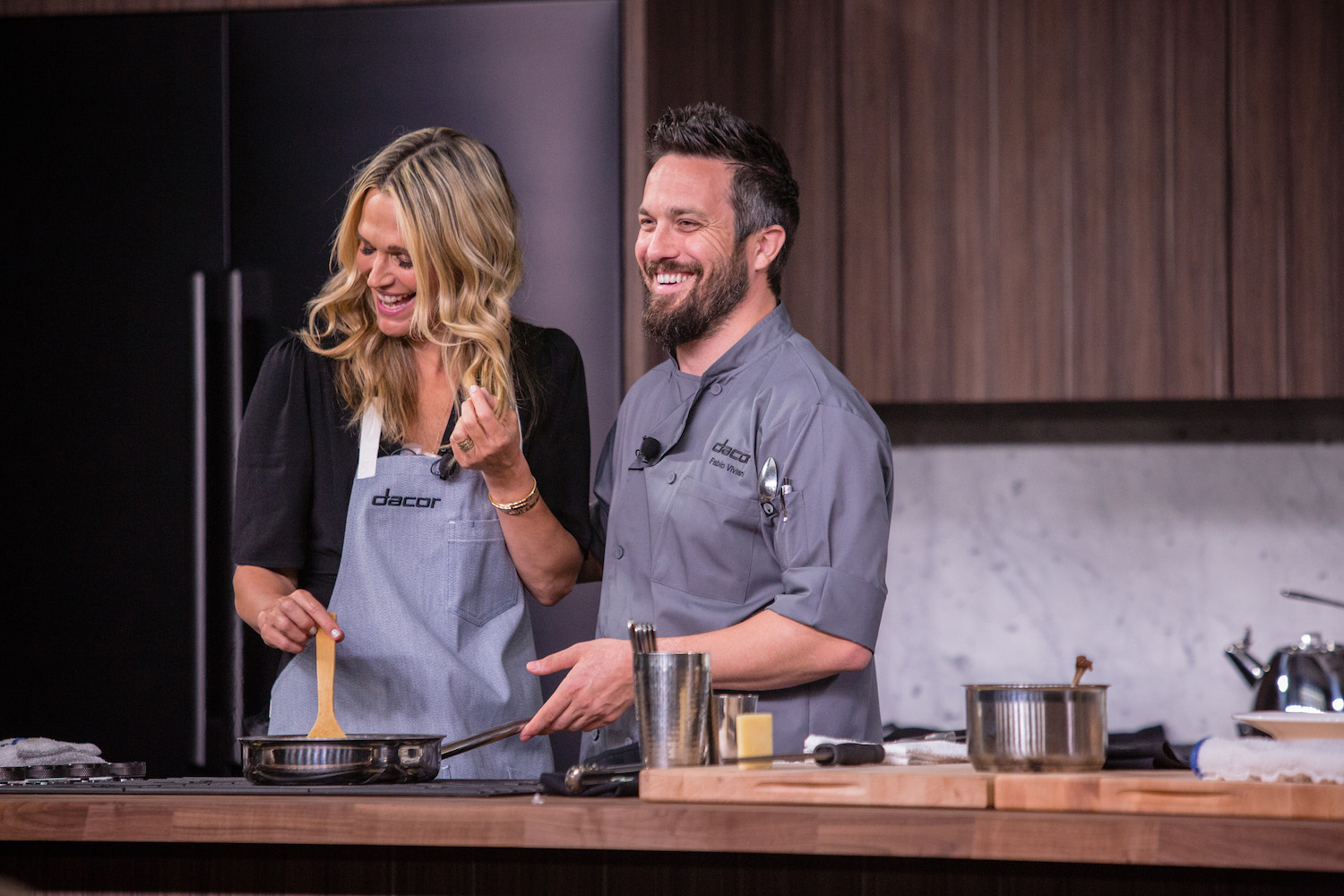 Molly Sims and chef Fabio Viviani