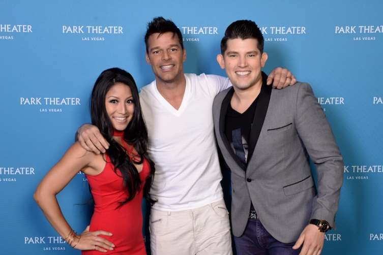 Jasmine Trias, Ricky Martin and Ben Stone