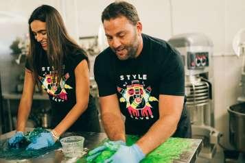 Isabela & David Grutman making Unicorn Donuts