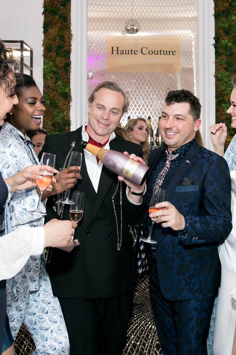 Jean-Charles Boisset and Jake Wall make a toast
