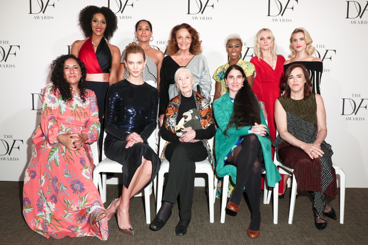 Baljeet Sandhu, Sarah Jones, Karlie Kloss, Tracee Ellis Ross, Dr. Jane Goodall, Diane von Furstenberg, Cynthia Erivo, Yoani Sanchez, Laura Brown, Allison Williams, Louise Dube
