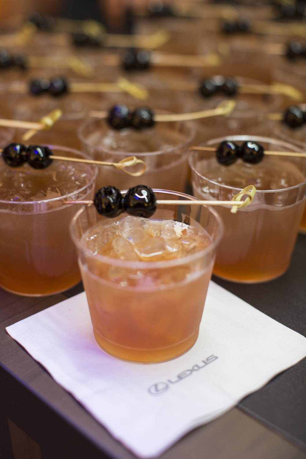 Cocktails await thirsty festival goers in the tent