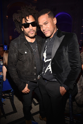 NEW YORK, NY - APRIL 03: Lenny Kravitz and Maxwell attend the 2017 Brooklyn Artists Ball at Brooklyn Museum on April 3, 2017 in New York City. (Photo by Kevin Mazur/Getty Images for Brooklyn Museum)