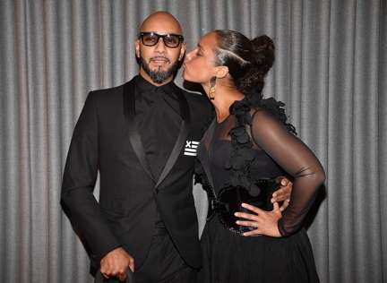 NEW YORK, NY - APRIL 03:  Swizz Beatz and Alicia Keys attend the 2017 Brooklyn Artists Ball at Brooklyn Museum on April 3, 2017 in New York City.  (Photo by Kevin Mazur/Getty Images for Brooklyn Museum)