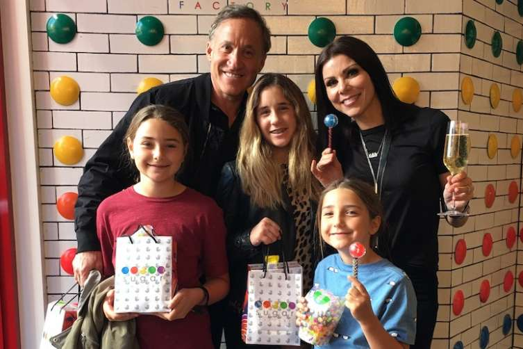 Terry and Heather Dubrow brought their family to Sugar Factory for spring break.