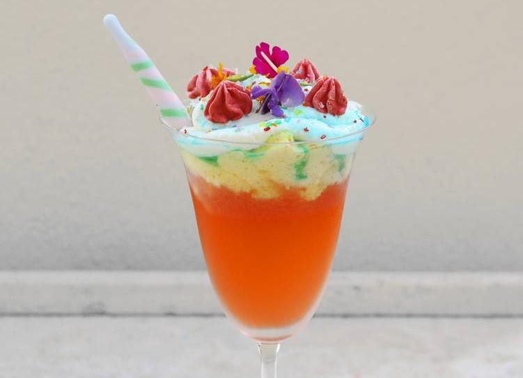 Unicorn cocktail at Terranea