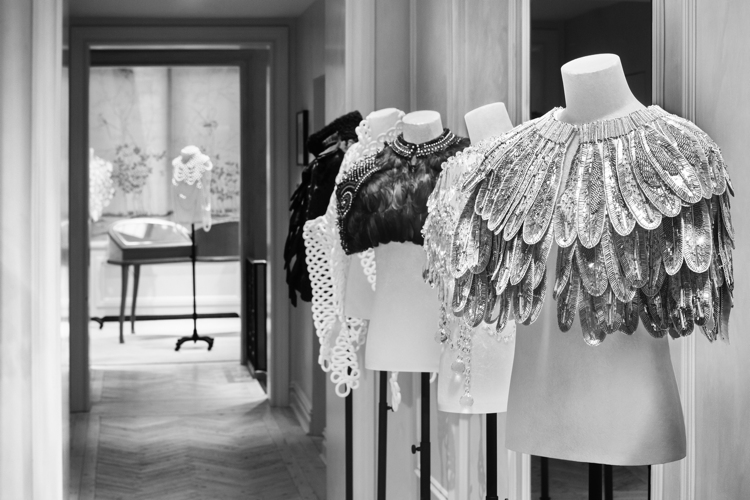 'The Cape Reimagined' at Moda Operandi Madison in Manhattan