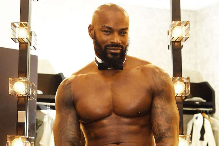 Actor/model Tyson Beckford begins a celebrity guest host in residency with the Chippendales at the Rio n April 7, 2017 in Las Vegas.