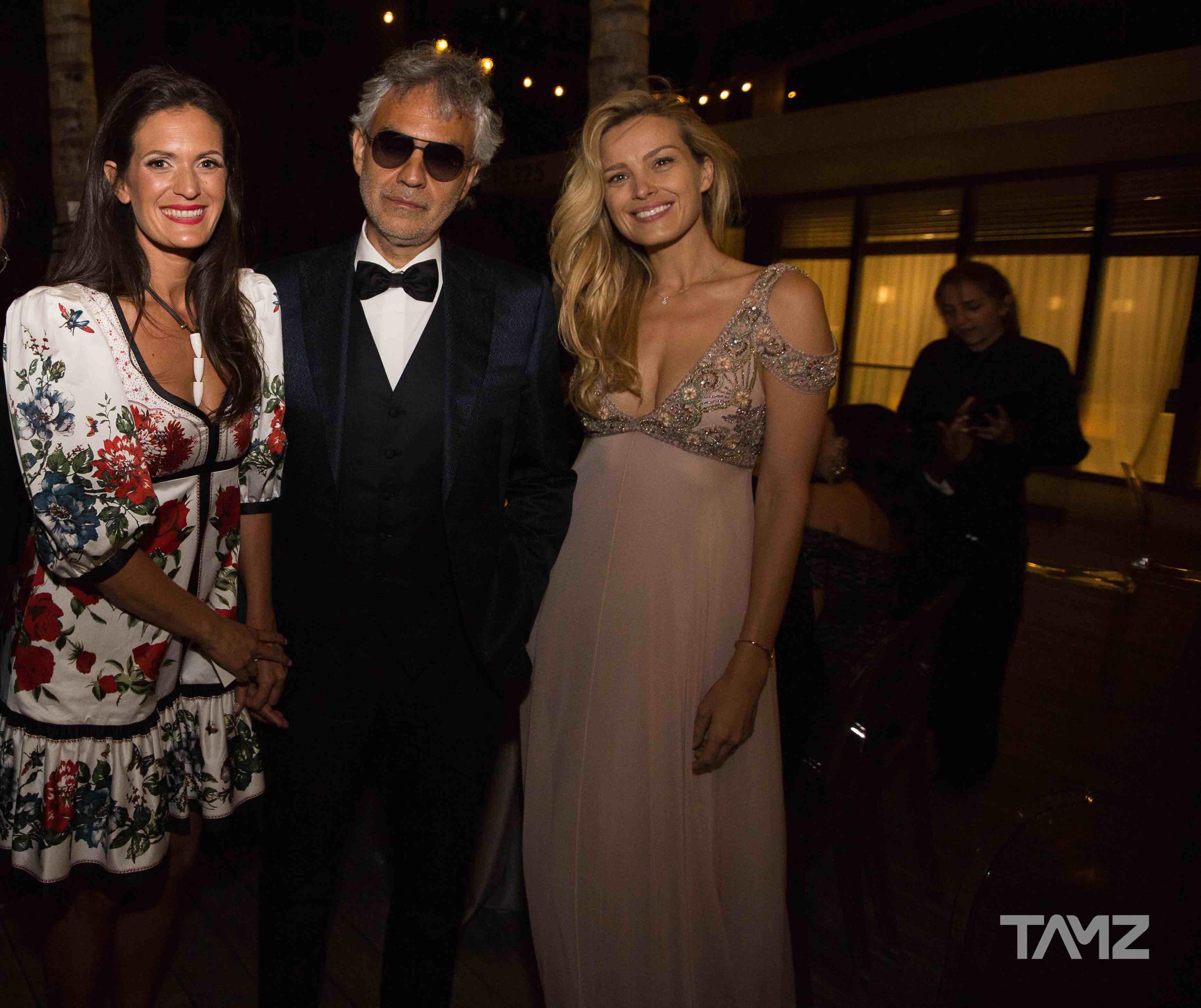 Veronica Berti, Andrea Bocelli, and Petra Nemcova