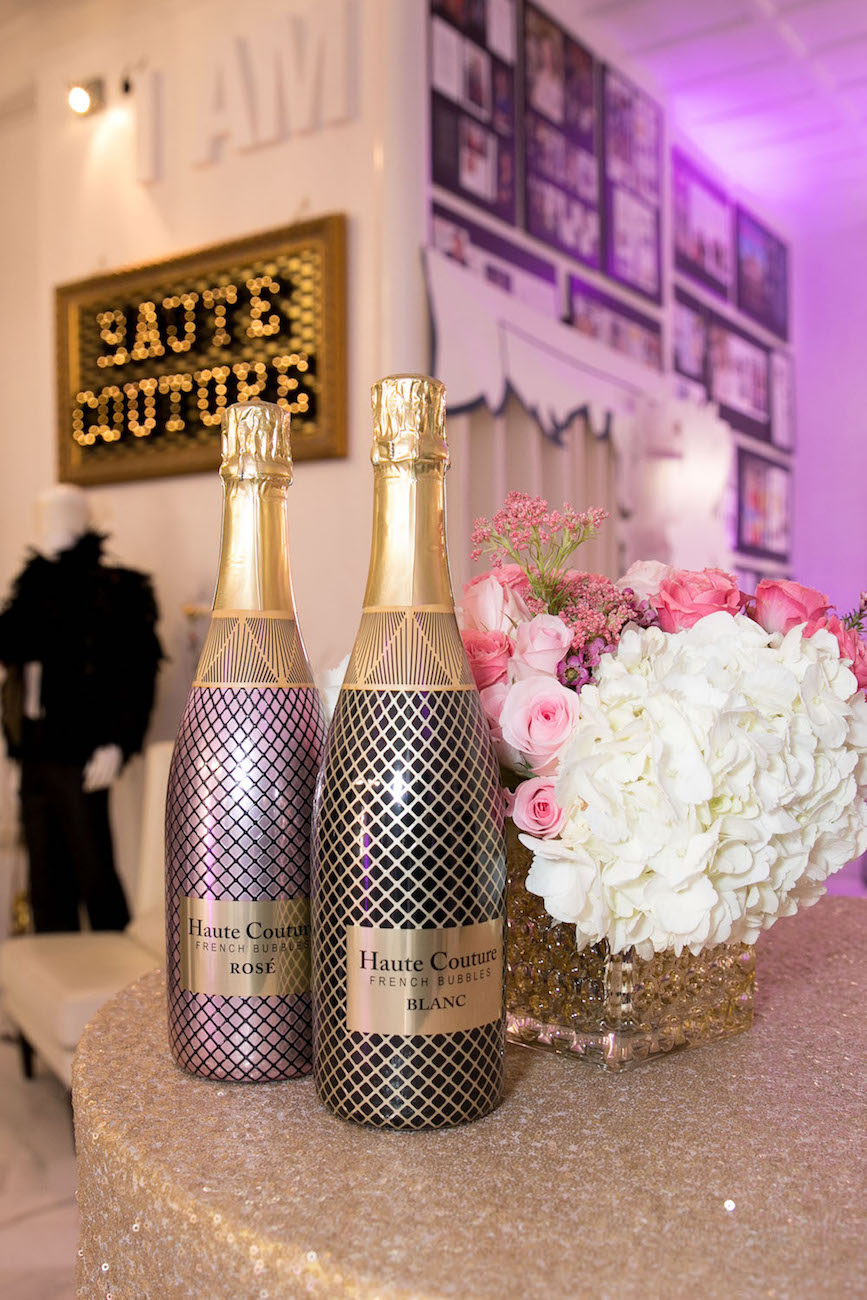 The Haute Couture bottles look as if they are wrapped in fish net stockings