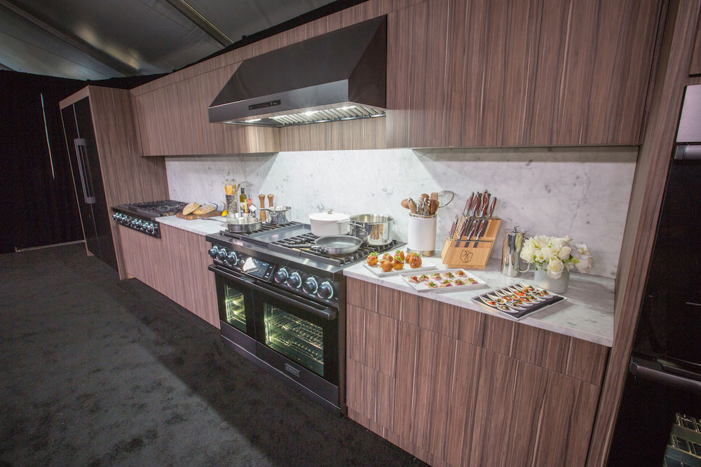 The Dacor demo kitchen set with Viviani's food
