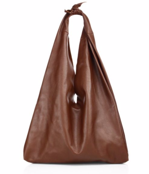 The Row Bindle Knotted Leather Hobo Bag