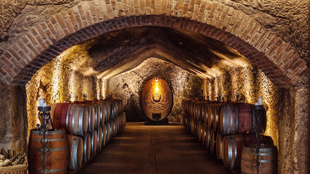 The caves at Buena Vista Winery