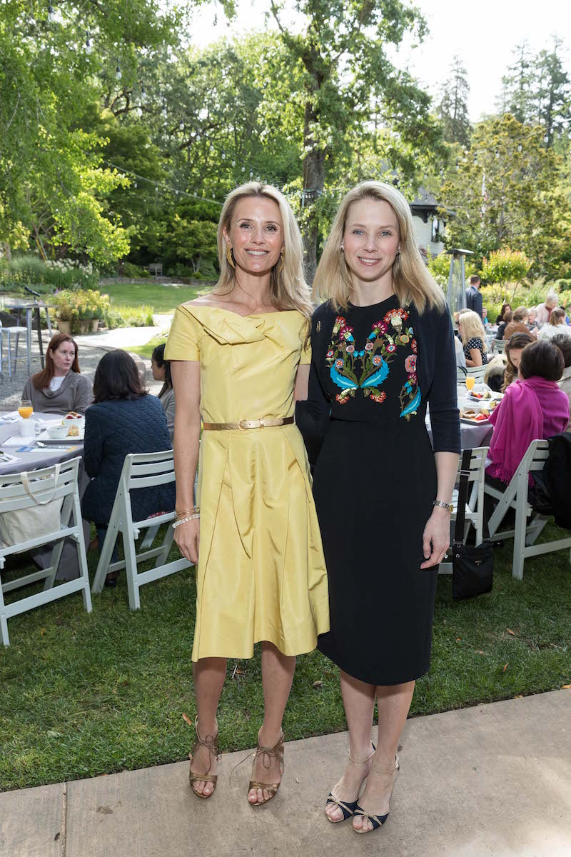 Jennifer Siebel Newsom and Marissa Mayer