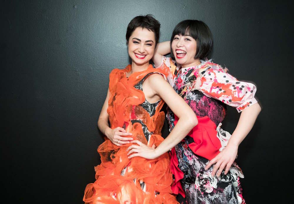 Mathilde Froustey and Yuka Uehara wear Tokyo Gamine