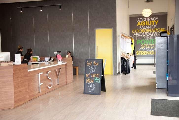 FSY Fitness Studio Lobby.