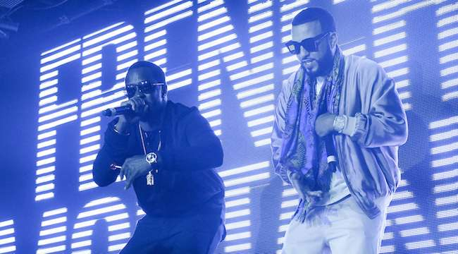 Diddy and French Montana perform together at Marquee.