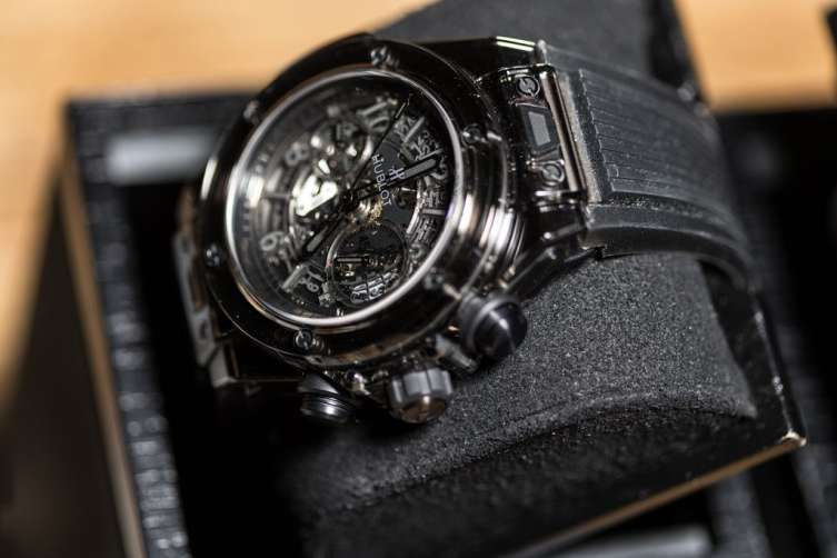 Hublot watches on display