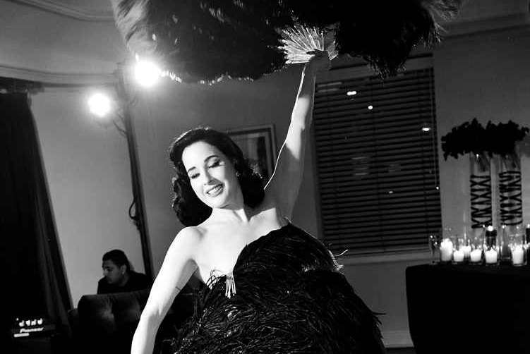 Dita Von Teese performs (The) Art of Sex Soiree hosted by Christine Chiu, with performance by Dita Von Teese at Chateau Marmont on May 2, 2017