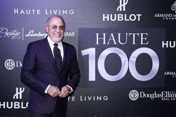 MIAMI, FL - MAY 16: Emilio Estefan attends the Haute Living Miami's Annual Haute 100 Dinner Presented By Hublot And Prestige Imports at Miami Design District Palm Court on May 16, 2017 in Miami, Florida. (Photo by Romain Maurice/Getty Images for Haute Living)