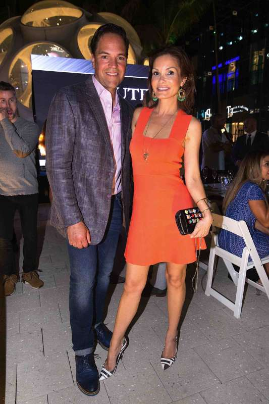 MIAMI, FL - MAY 16: Mike and Alicia Piazza attend the Haute Living Miami's Annual Haute 100 Dinner Presented By Hublot And Prestige Imports at Miami Design District Palm Court on May 16, 2017 in Miami, Florida.