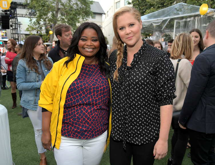 Octavia Spencer (L) and comedian Amy Schumer attend City Year Los Angeles Spring Break