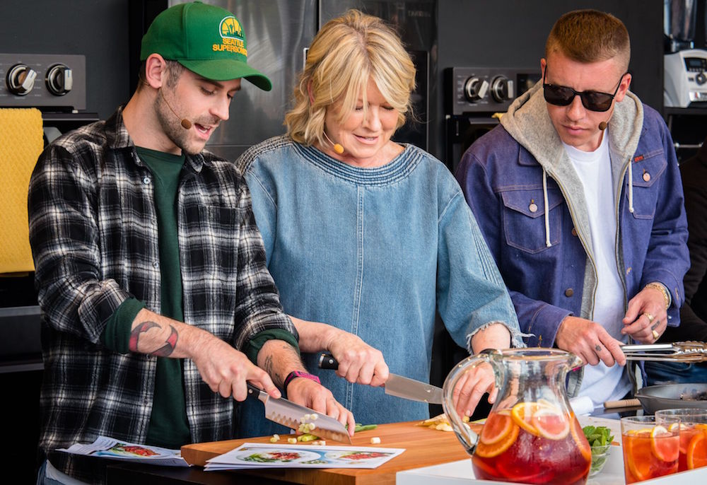 Ryan Lewis, Martha Stewart, and Macklemore