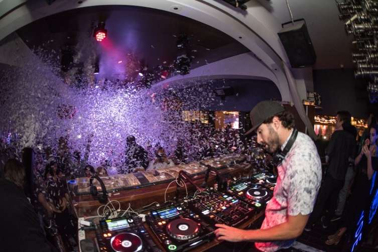 Brody Jenner spins at Hyde.