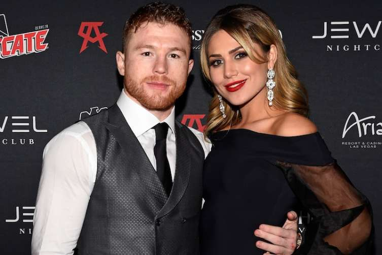 Canelo Alvarez and Fernanda Gomez at Jewel Nightclub.